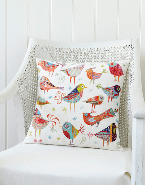 Nancy Nicholson Embroidery Stitch Kit, Bird Dance Cushion Cover