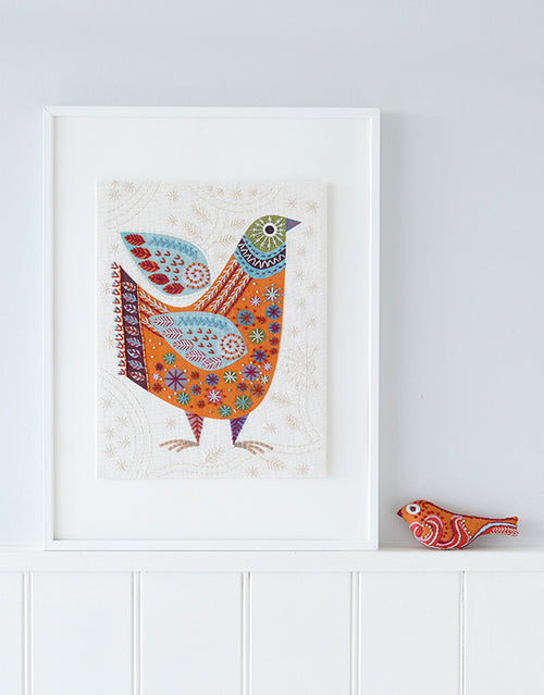 Nancy Nicholson Embroidery Stitch Kit, Bird