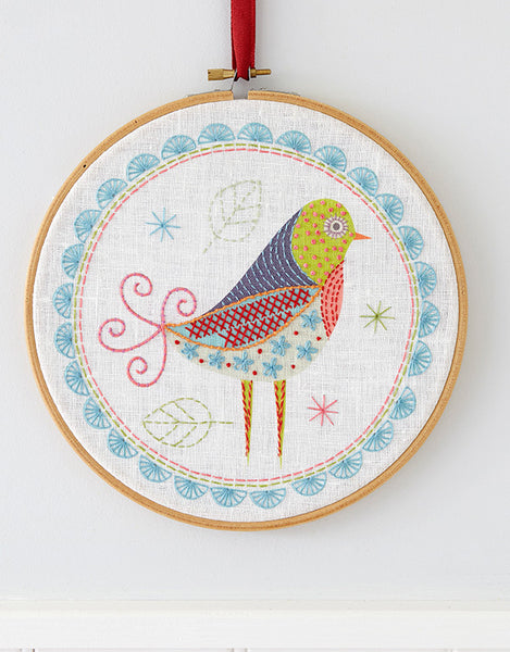 Nancy Nicholson Embroidery Stitch Kit, Birdie 1
