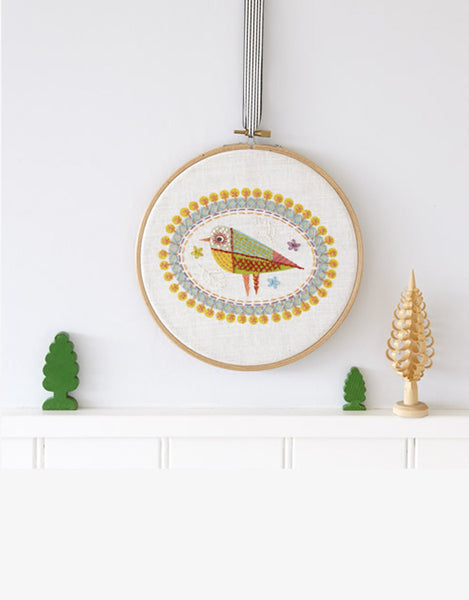 Nancy Nicholson Embroidery Stitch Kit, Birdie 2