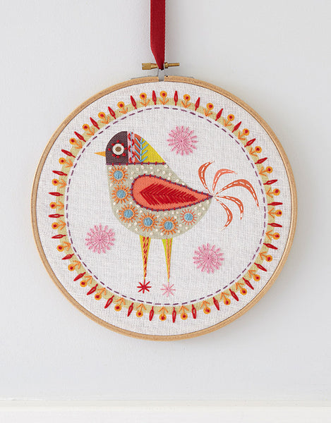 Nancy Nicholson Embroidery Stitch Kit, Birdie 4
