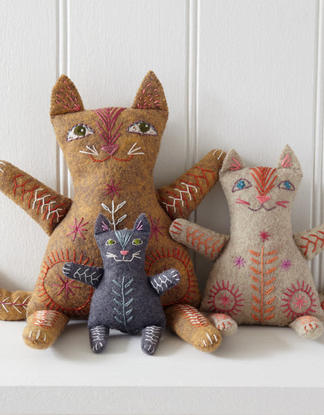 Nancy Nicholson Embroidery Stitch Kit, Cat Family