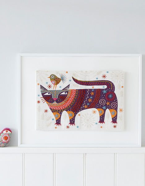 Nancy Nicholson Embroidery Stitch Kit, Cat