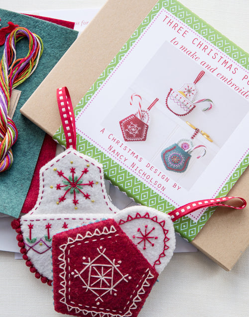 Christmas Pockets Embroidery Kit by Nancy Nicholson