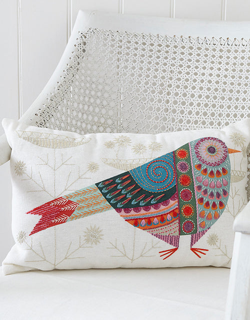 Nancy Nicholson Embroidery Stitch Kit, Cuckoo Cushion Cover