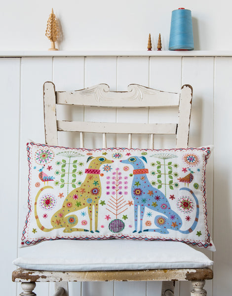 Nancy Nicholson Embroidery Stitch Kit, Dog Cushion Cover