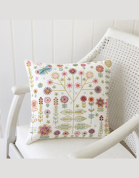 Nancy Nicholson Embroidery Stitch Kit, Garden Sampler