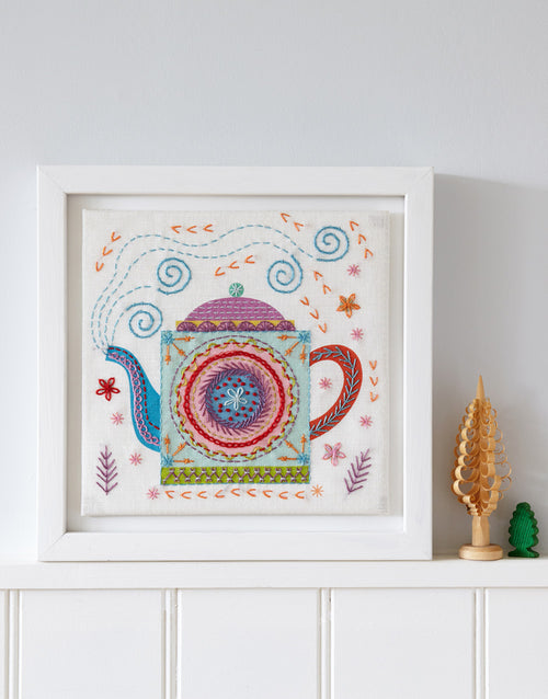 Nancy Nicholson Embroidery Stitch Kit, Teapot