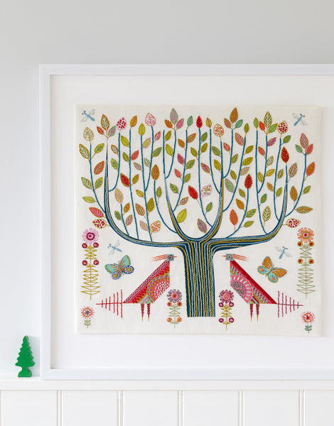 Nancy Nicholson Embroidery Stitch Kit, Tree Cushion Cover