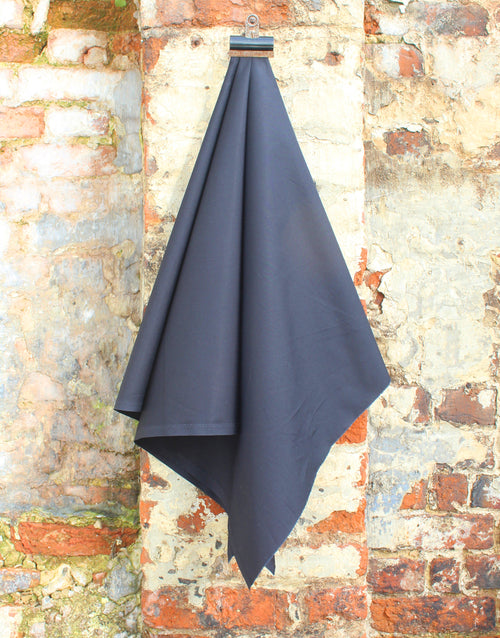 Plain Cotton Poplin Fabric, Black