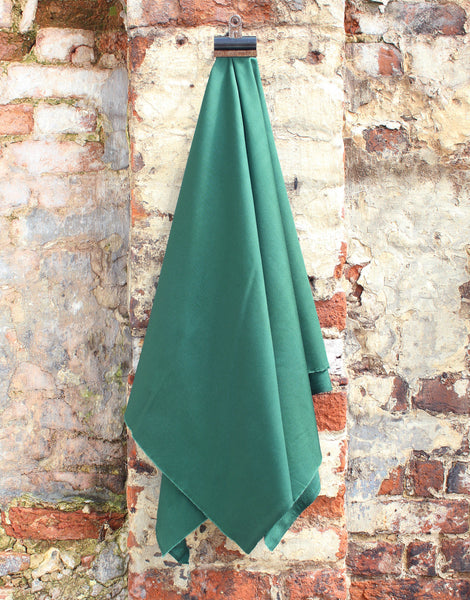 Plain Cotton Poplin Fabric, Bottle Green
