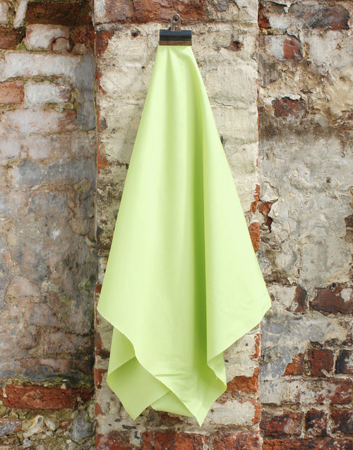 Plain Cotton Poplin Fabric, Chartreuse Green