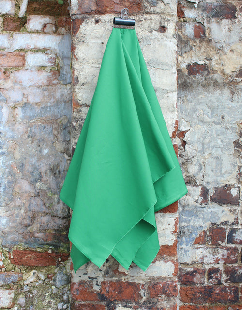 Plain Cotton Poplin Fabric, Emerald Green