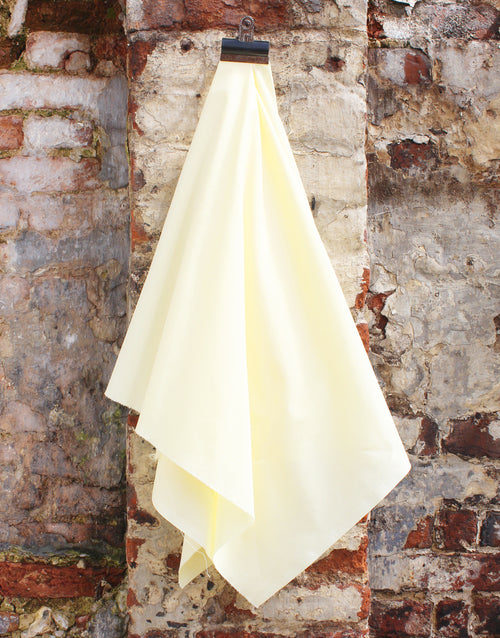 Plain Cotton Poplin Fabric, Lemon Yellow