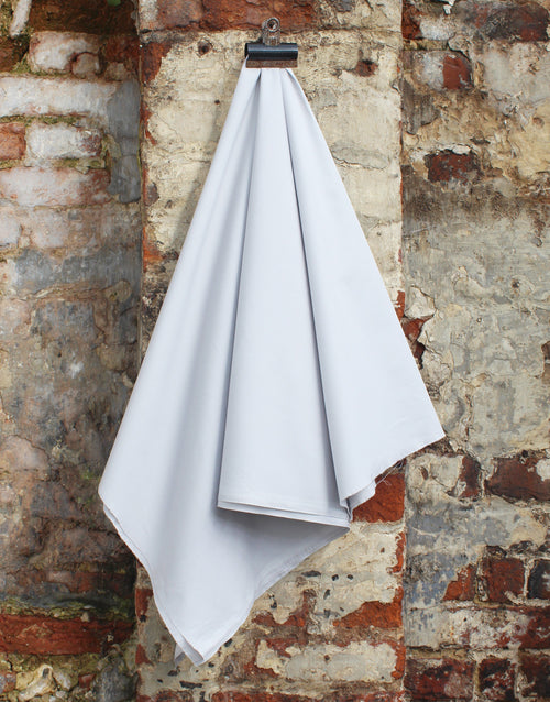 Plain Cotton Poplin Fabric, Light Grey