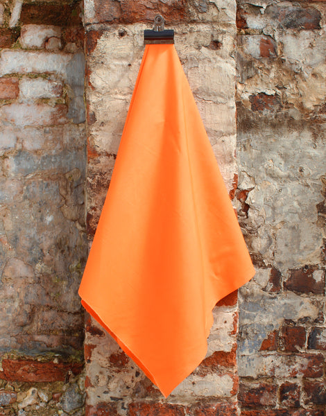 Plain Cotton Poplin Fabric, Orange