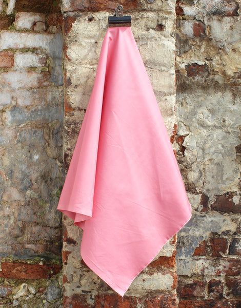 Plain Cotton Poplin Fabric, Pink