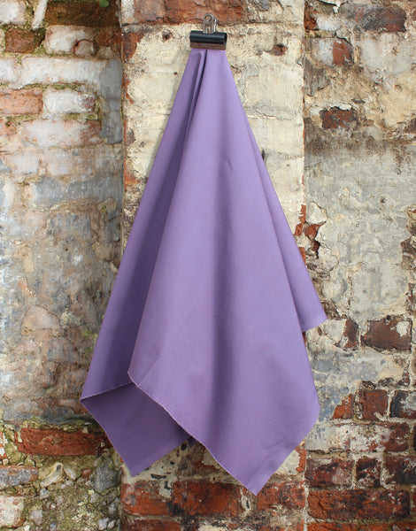 Plain Cotton Poplin Fabric, Plum