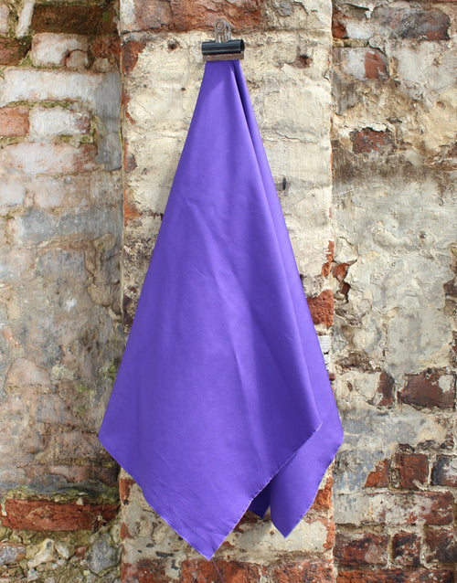 Plain Cotton Poplin Fabric, Purple