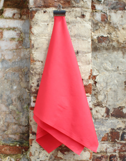Plain Cotton Poplin Fabric, Red