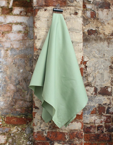 Plain Cotton Poplin Fabric, Sage Green