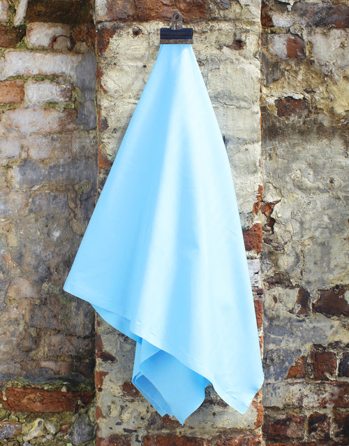 Plain Cotton Poplin Fabric, Sky Blue