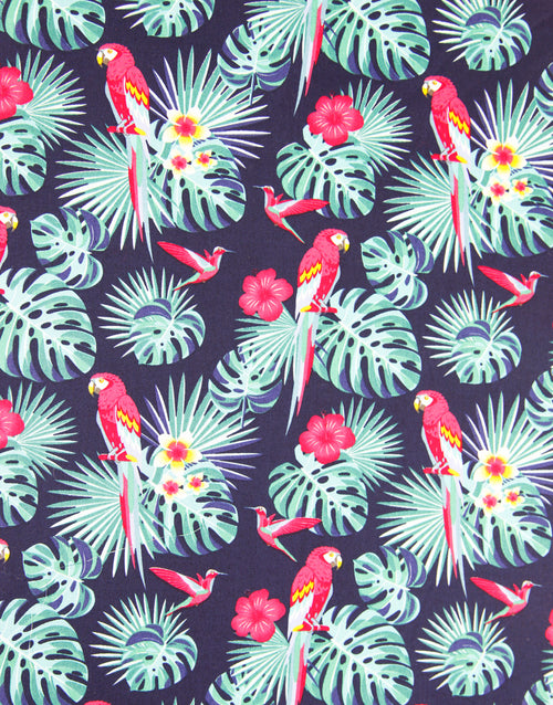Tropical Parrots, Printed Cotton Fabric