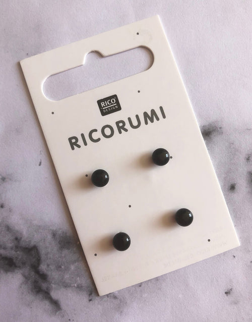 Ricorumi Black Button Eyes 5mm