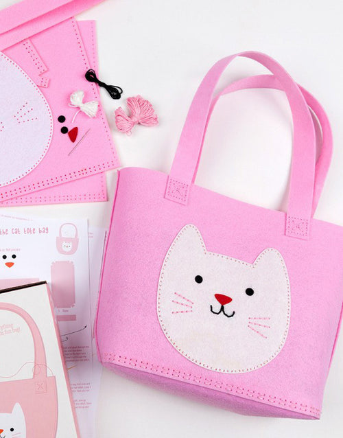 Sew Your Own Cookie The Cat Tote Bag