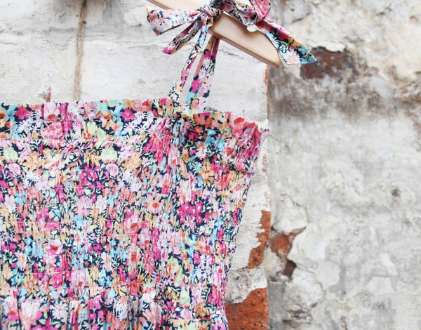 Shirred Liberty Print Girl's Dress | Chichester Sewing Workshops