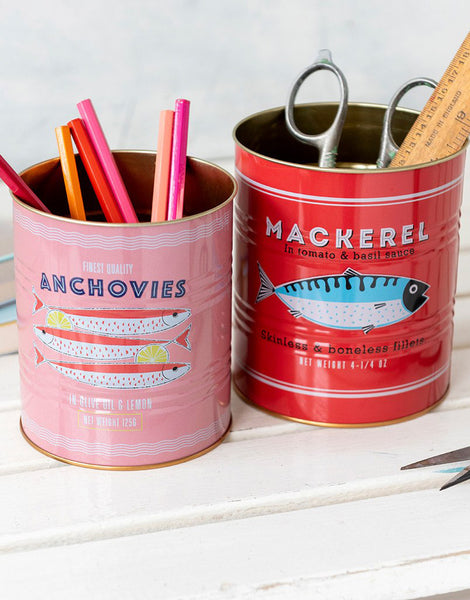 Fish Storage Tins, Set of 2