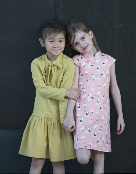 Laure Dress with Qipao Dress Version, Straightgrain Girl's Sewing Pattern