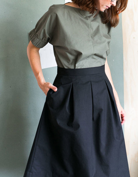 The Assembly Line Sewing Pattern, Three Pleat Skirt