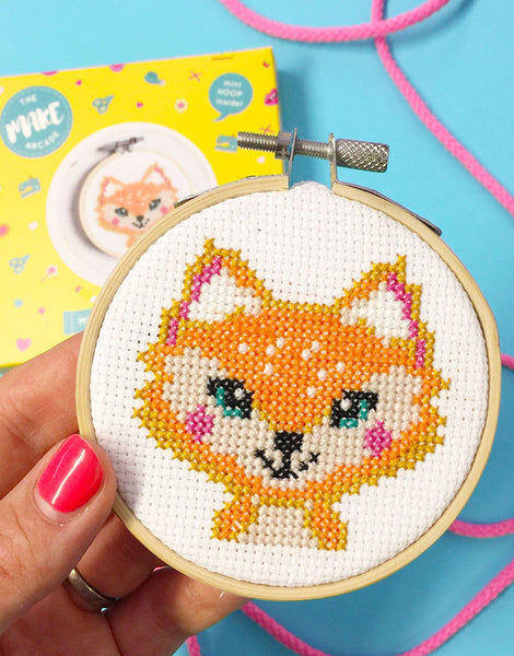 Florence Fox Mini Cross Stitch Kit, The Make Arcade