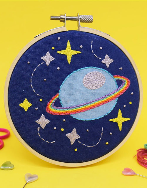 Galaxy Mini Embroidery Kit, The Make Arcade