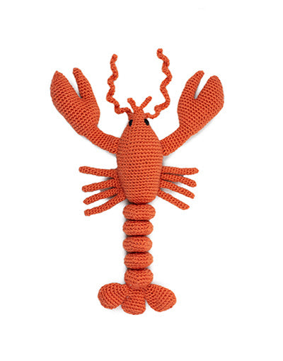 Joanna The Bright Lobster, Crochet Kit from Toft Edward's Menagerie