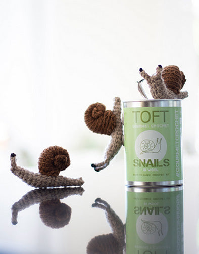 Snails in a Tin, Crochet Kit from Toft