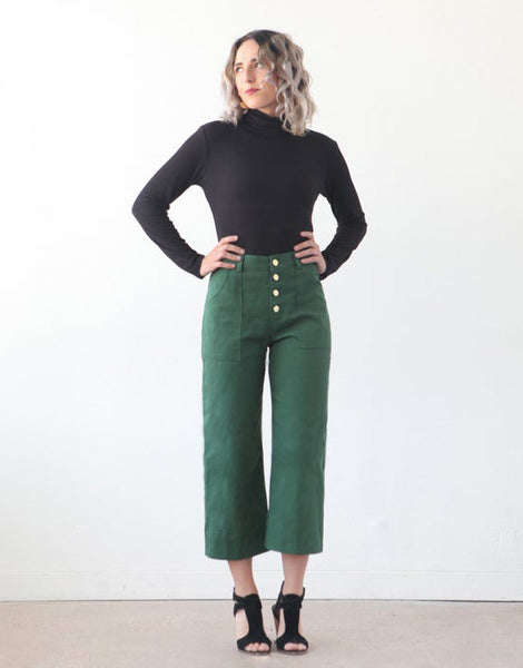 Lander Trousers & Shorts Womens Sewing Pattern, True Bias
