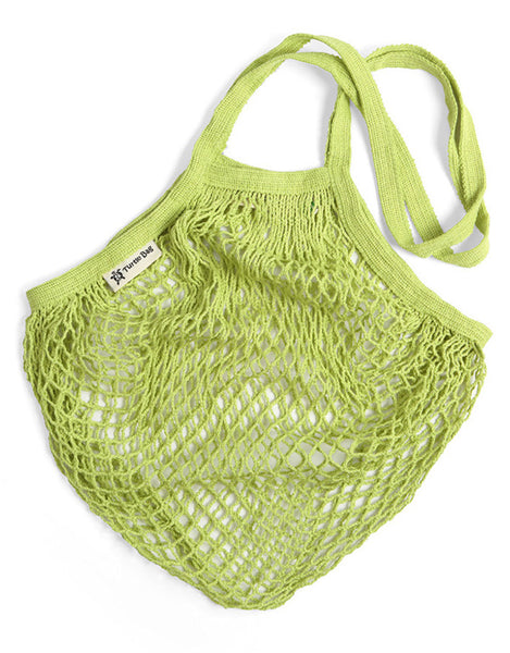 Organic Short Handled Eco String Bag, Lime