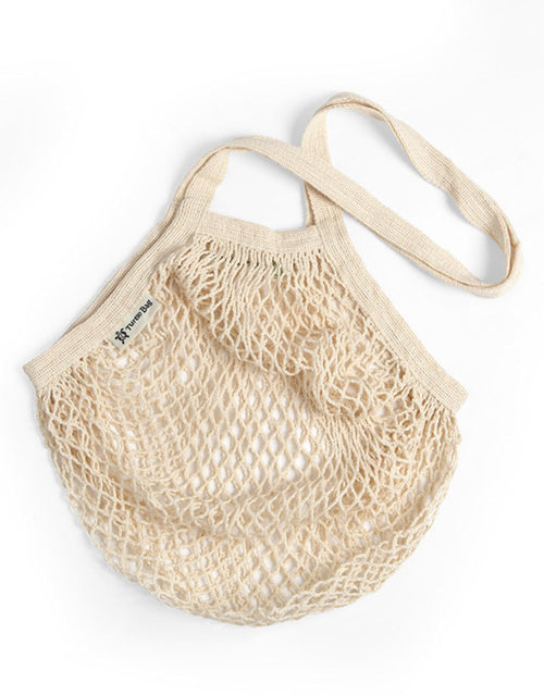 Organic Long Handled Eco String Bag, Natural