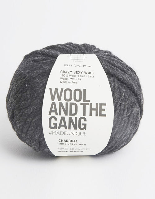 Crazy Sexy Wool Yarn, Wool and the Gang, Charcoal
