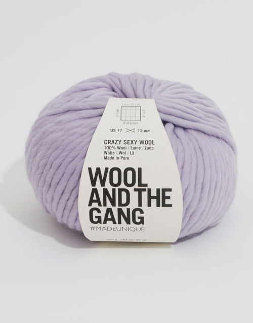Crazy Sexy Wool Yarn, Wool and the Gang, Lilac Powder