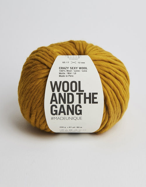 Crazy Sexy Wool Yarn, Wool and the Gang, Bronzed Olive