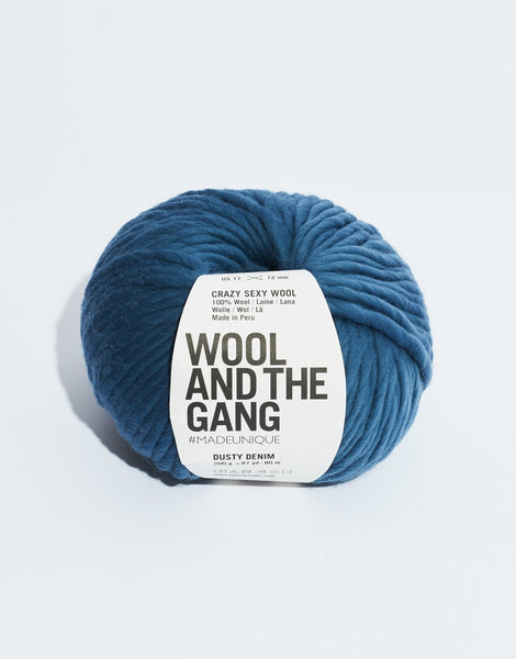 Crazy Sexy Wool Yarn, Wool and the Gang, Dusty Denim