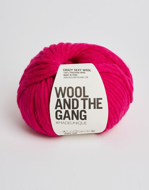 Crazy Sexy Wool Yarn, Wool and the Gang, Hot Punk Pink