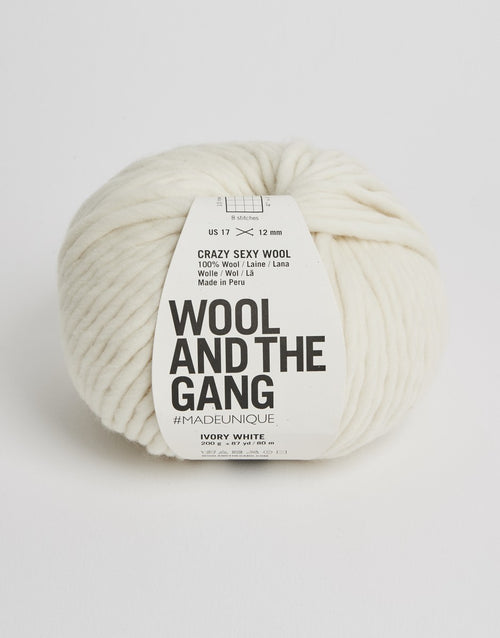 Crazy Sexy Wool Yarn, Wool and the Gang, Ivory White