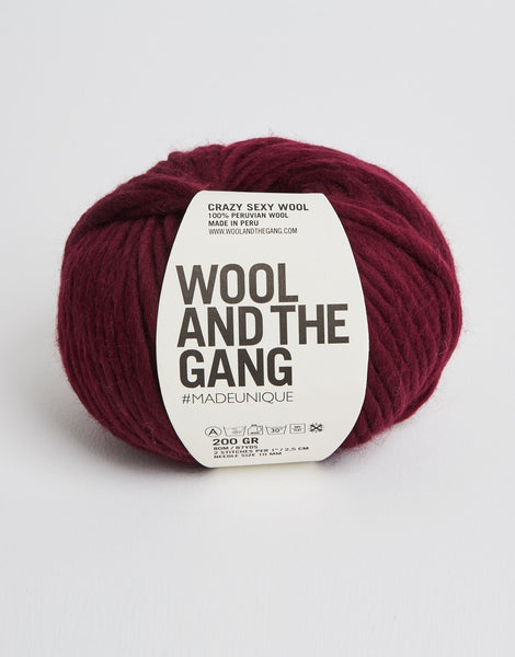 Crazy Sexy Wool Yarn, Wool and the Gang, Margaux Red
