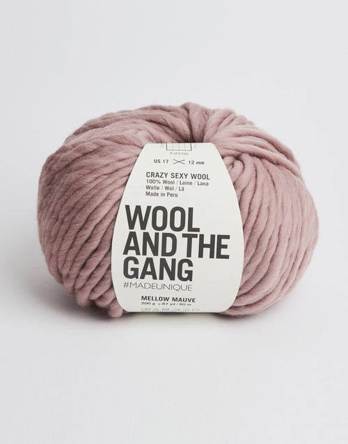 Crazy Sexy Wool Yarn, Wool and the Gang, Mellow Mauve