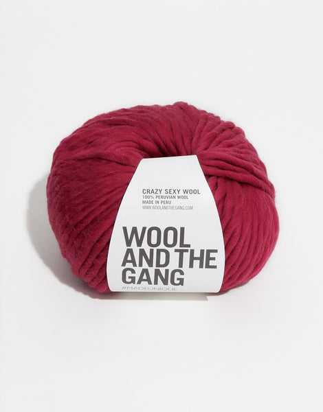 Crazy Sexy Wool Yarn, Wool and the Gang, Blood Red