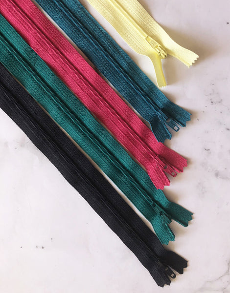 "Closed End Zipper 51cm / 20"", Various Colours"